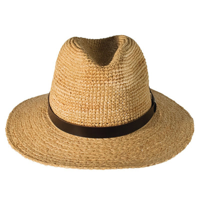 CARY FEDORA IN STRAW GOLF  4400 NATURAL O/S
