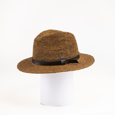 CARY FEDORA IN STRAW GOLF  9500 BROWN O/S