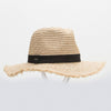 FELICIA FEDORA IN STRAW GOLF  4400 NATURAL O/S