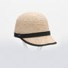 CAREN CAP IN STRAW GOLF  4421 NATURAL-BLACK O/S