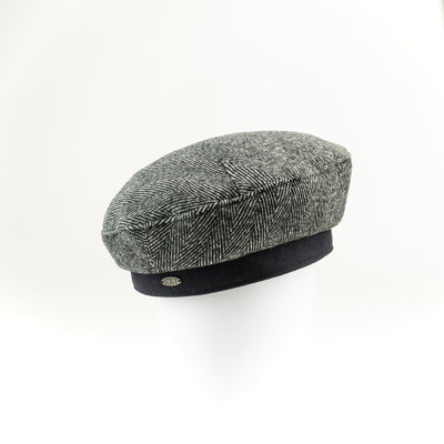 BAIA - TWEED BERET HAT GOLF  2100 BLACK ONE SIZE