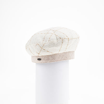 BAIA - TWEED BERET HAT GOLF  4900 CREAM ONE SIZE