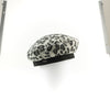 BETTINA - LEOPARD BERET HAT GOLF  2600 CHARCOAL ONE SIZE