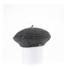 BLAIRE - STRIPED BERET HAT GOLF  7900 GREY ONE SIZE