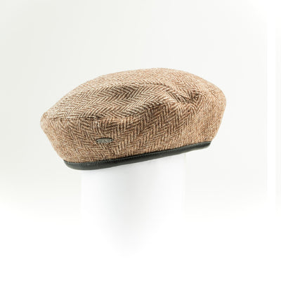 BETTE - REVERSIBLE UPCYCLED TWEED BERET HAT GOLF  4800 BEIGE ONE SIZE