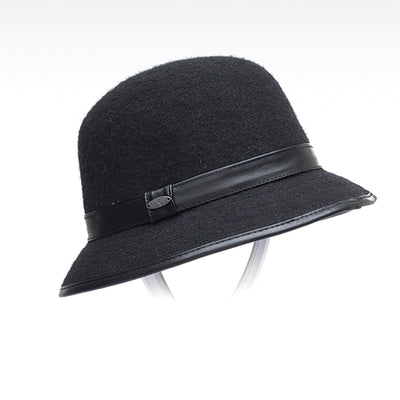 CLODETTE WOOL CLOCHE HAT GOLF  2100 BLACK O/S