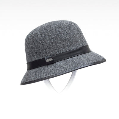 CLODETTE WOOL CLOCHE HAT GOLF  2600 CHARCOAL O/S