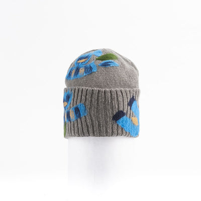 BAILEY - BEANIE WITH COLORFUL EMBROIDERY GOLF  7900 GREY-BLUE O/S