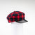 NANCY - TARTAN NEWSBOY CAP WITH LEATHER CAP