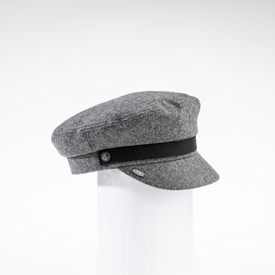 NAOMI - SAILOR CAP HAT WITH LEATHER BAND GOLF  7900 GREY O/S