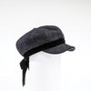 CASANDRA - NEWSBOY CAP HAT WITH BOW GOLF  2600 CHARCOAL O/S