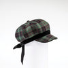 CASANDRA - NEWSBOY CAP HAT WITH BOW GOLF  3700 GREEN TARTAN O/S