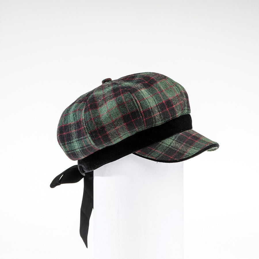 CASANDRA - NEWSBOY CAP HAT WITH BOW