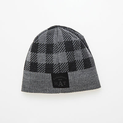 CANA CANADIAN PLAID BEANIE GOLF  7900 GREY O/S