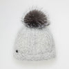 VALE-P - ANGORA BEANIE WITH POM FASHION  7900 GREY O/S