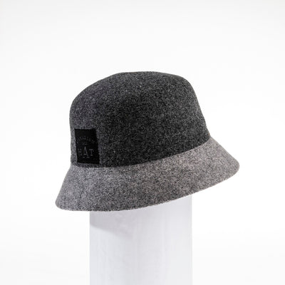 CYBIL - COLOR BLOCKED BUCKET HAT GOLF  2600 CHARCOAL-GREY ADJUSTABLE