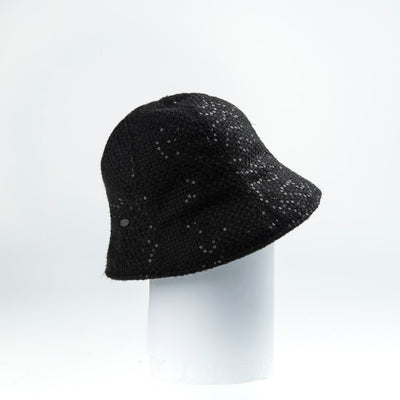 CORALIE - MODERN CLOCHE HAT GOLF  2100 BLACK ADJUSTABLE