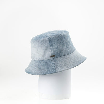 JILLIAN - BUCKET HAT IN UPCYCLED JEANS GOLF  1400 DENIM ADJUSTABLE