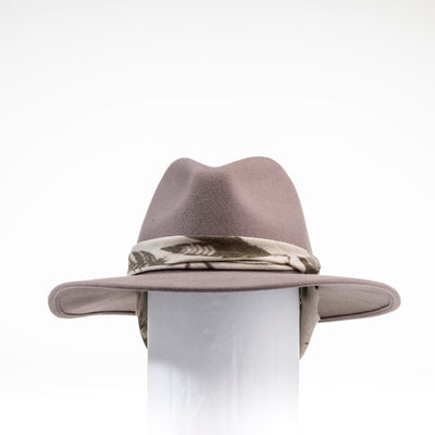 FERNANDA - FELT FEDORA HAT WITH REMOVABLE RIBBON GOLF  7400 TAUPE O/S
