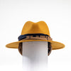 FERNANDA - FELT FEDORA HAT WITH REMOVABLE RIBBON GOLF  9300 GOLD O/S
