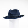 FELDA - FELT FEDORA WITH MESH TRIM GOLF  4500 NAVY O/S