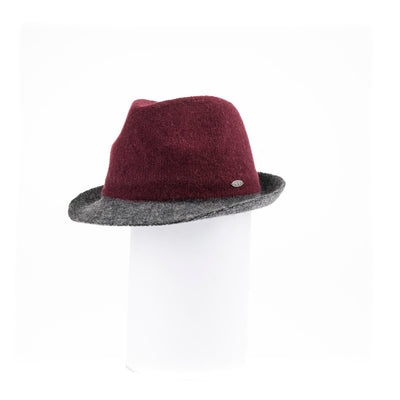 FIORE - WOOLEN FEDORA HAT GOLF  3800 BURGUNDY ADJUSTABLE
