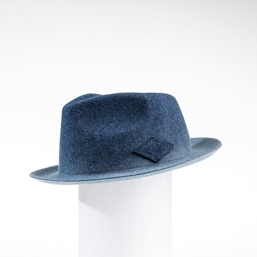MARKUS - MENS FEDORA WITH OMBRE DYE GOLF  2200 BLUE MIX ADJUSTABLE