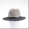 MARSHALL - COLOR BLOCKED FEDORA HAT GOLF  7900 GREY-CHARCOAL ADJUSTABLE