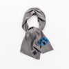SAILEY - SCARF WITH COLORFUL EMBROIDERY GOLF  7900 GREY-BLUE O/S