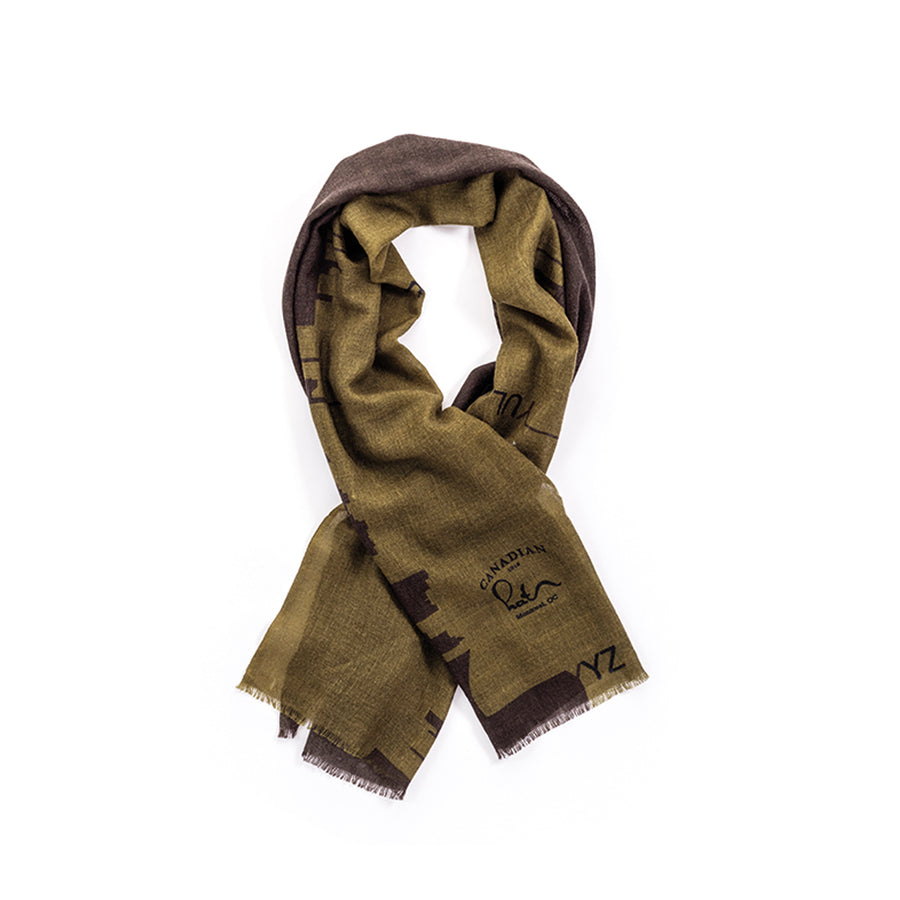 CITY SCARF GOLF  7900 GREY O/S