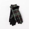 GLENA - GLOVES WITH RIBBON GOLF  3700 GREEN TARTAN O/S