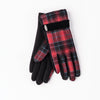 GLENA - GLOVES WITH RIBBON GOLF  5800 RED TARTAN O/S