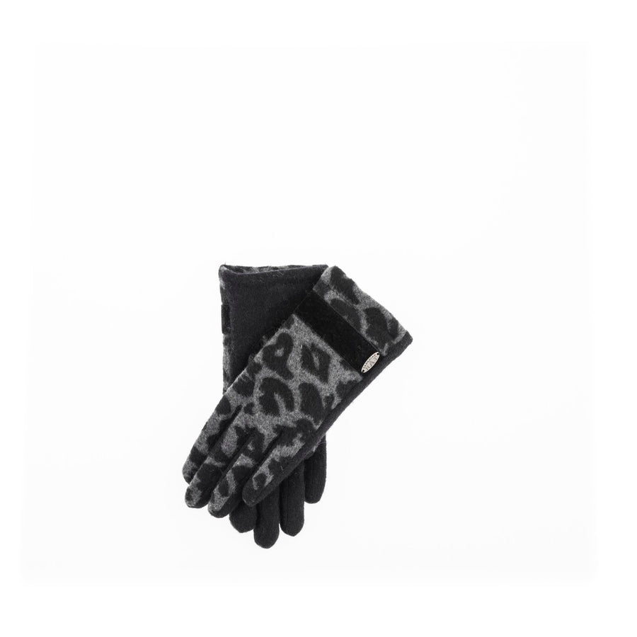 GABBY - LEOPARD GLOVES GOLF  2100 BLACK ONE SIZE