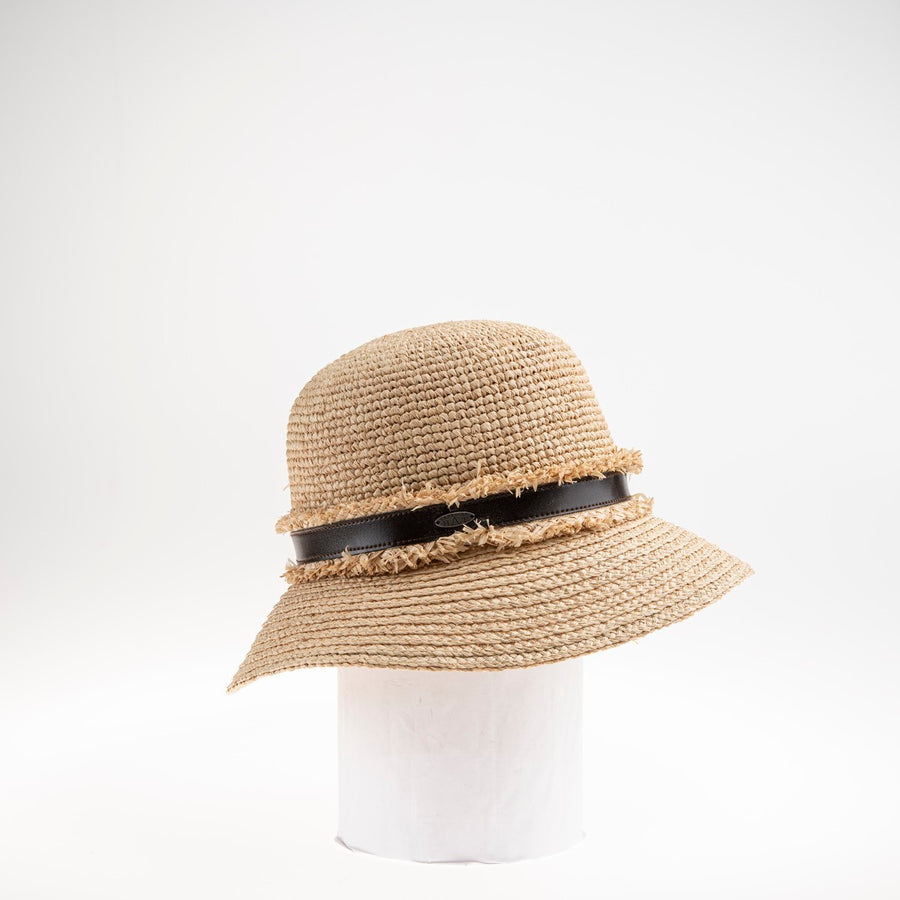 CLIO LARGE CLOCHE W/ BRAIDED STRAW