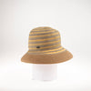 CLARO  LARGE CLOCHE W/ PAPER STRAW BRIM GOLF  0900 BEIGE ADJUSTABLE