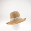 CALIE LARGE CLOCHE W FOLDED BRIM AND RIBBON GOLF  4400 NATURAL ADJUSTABLE
