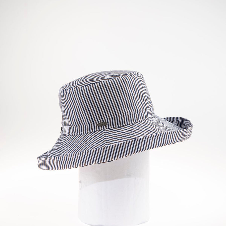 CAMIALA COTTON CLOCHE HAT WITH FOLDED BRIM