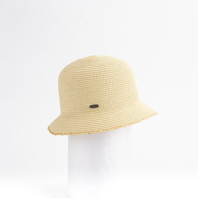CANADIAN HAT CLAILIE SHORT CLOCHE WITH RAFFIA DETAIL 4400 NATURAL