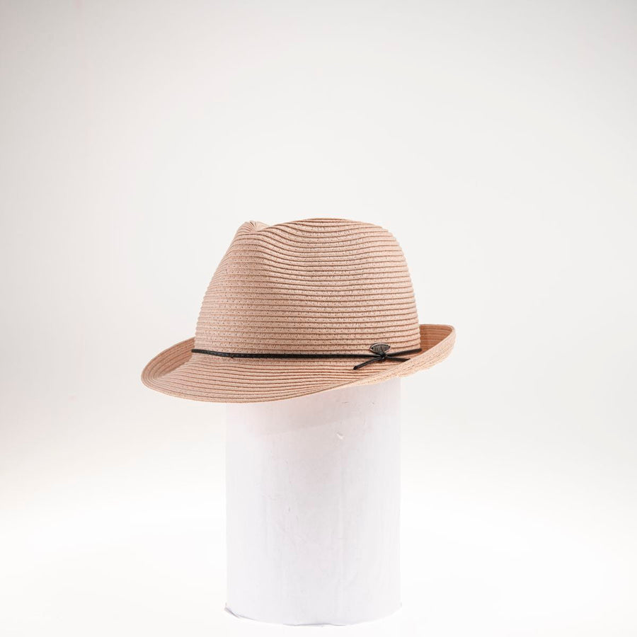 FANCIA FEDORA W/ LEATHER CORD