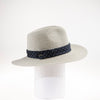 TONIE FEDORA WITH RECYCLED TIE TRIM GOLF  7900 GREY ADJUSTABLE