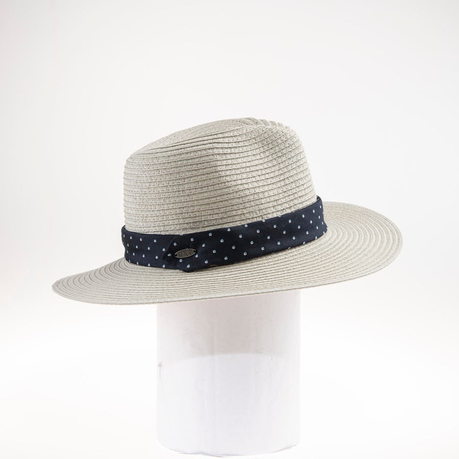 TONIE FEDORA WITH RECYCLED TIE TRIM
