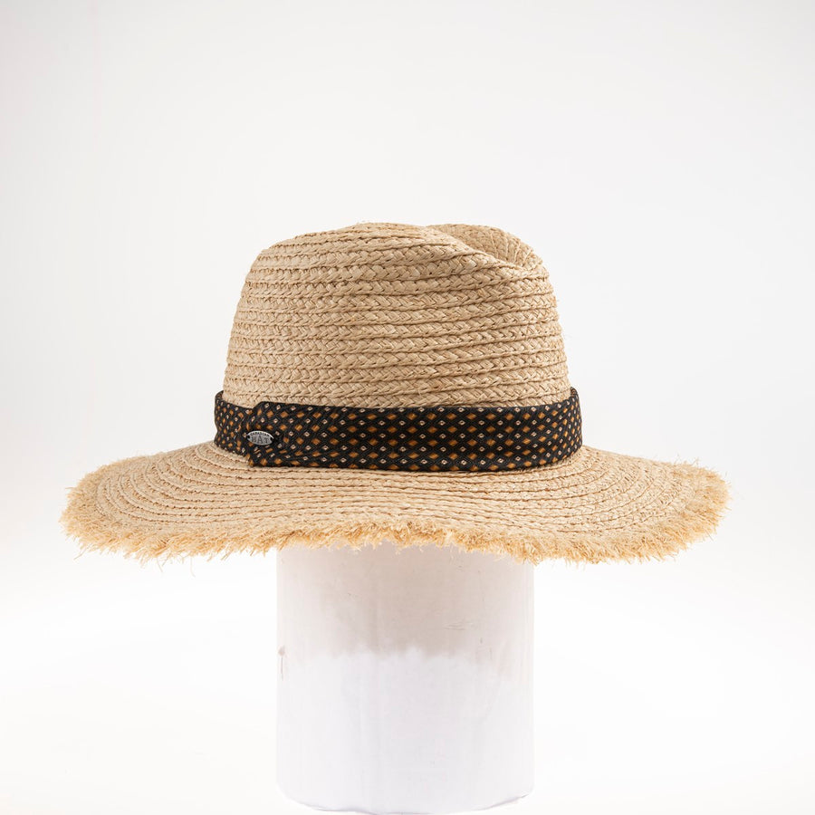 TOMMY LARGE FEDORA W/ RECYCLED TIE TRIM