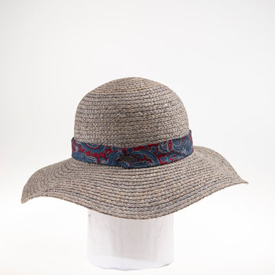 TANIA FLOPPY HAT W/ RECYCLED TIE TRIM GOLF  7900 GREY ADJUSTABLE