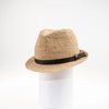CARL  FEDORA W/ LEATHER TRIM GOLF  4400 NATURAL ADJUSTABLE