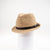 CARL  FEDORA HAT WITH LEATHER TRIM