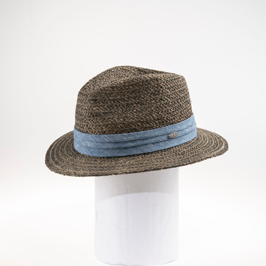 MELO FEDORA IN STRAW WITH PLEATED RIBBON