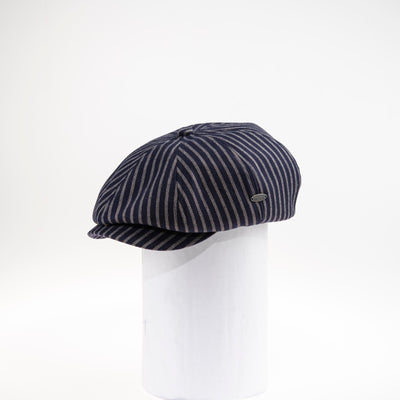 AL  NEWSBOY CAP WITH STRIPES GOLF  4500 NAVY ADJUSTABLE