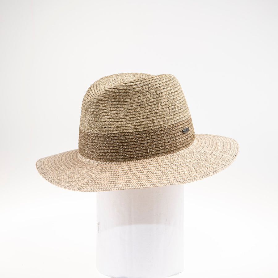 PHIL LARGE BRIM FEDORA GOLF  2500 NATURAL MIX ADJUSTABLE