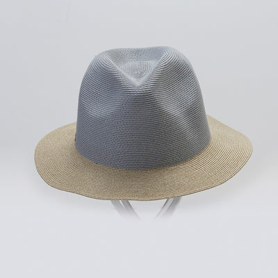 FRANCOIS FEDORA IN PAPER STRAW GOLF  7944 BLUE-NATURAL O/S