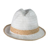 CANADIAN HAT WOMEN AMBAR FEDORA IN FABRIC in 7500 WHITE, O/S